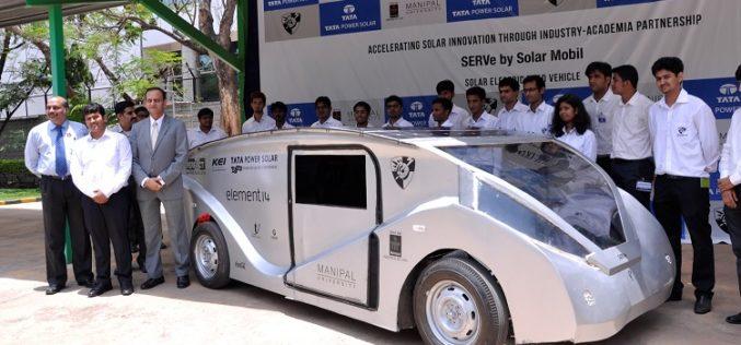 Manipal University & Tata Power Solar unveils solar car