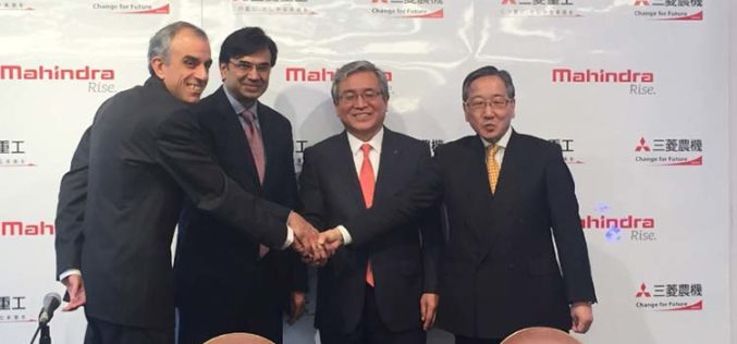 Mitsubishi Heavy Industries and Mahindra enter into strategic partnership in Agricultural Machinery