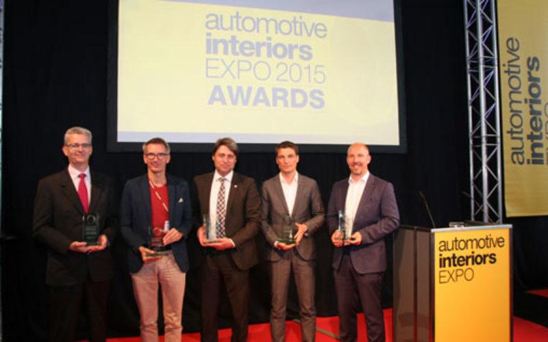 Faurecia receives award at Automotive Interiors Expo 2015