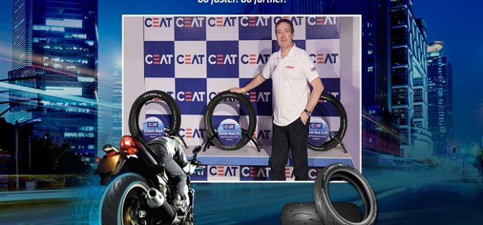 CEAT Launches Zoom Rad X1 Premium Radial Tyres at the India Bike Week 2017