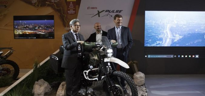 Hero Motocorp unveils the Xpulse concept motorcycle at the EICMA 2017 in Milan