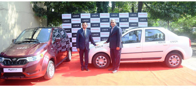 Mahindra and Uber Join Hands to Deploy Electric Vehicles in India