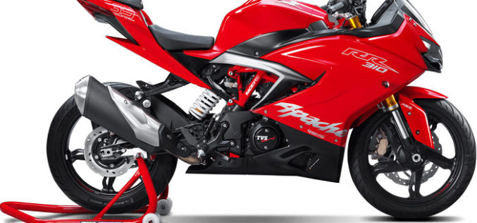 TVS launches its first Motorcycle in the Super- Premium Category, Apache RR 310